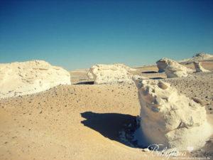 Felsformationen in der weißen Wüste