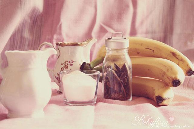 Zutaten für Bananen-Zimt-Eis