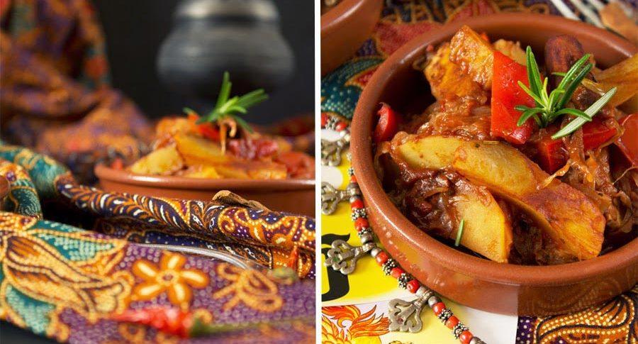 Szegediner Tofu Curry aus dem Römertopf