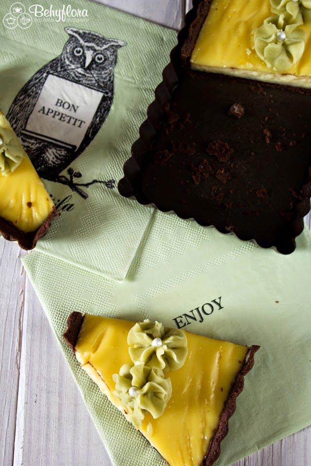 Wer könnte zu dieser Pudding-Tarte schon nein-sagen