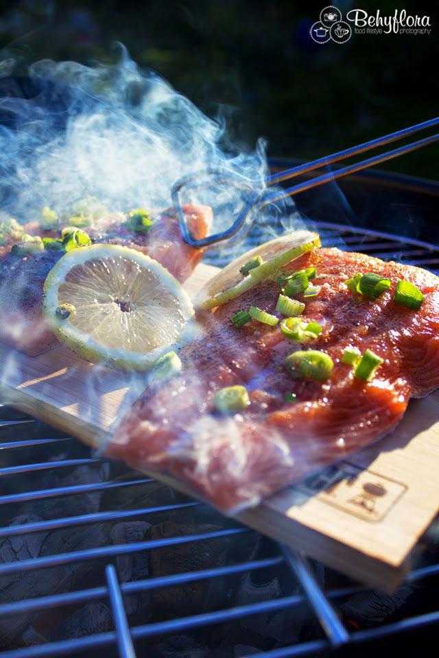 Geräucherter Lachs auf dem Weber Grill