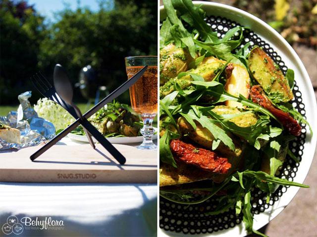 Perfektes Grillwetter heitß auch perfektes Wetter für Backkartoffelsalat
