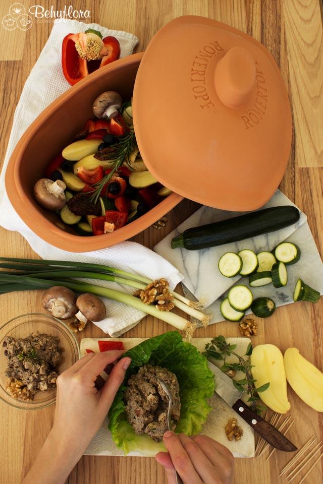 Diese Zutaten müssen für die veganen Wirsingrouladen in den Römertopf