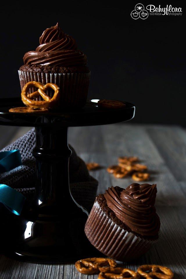 Das Rezet für diese Salzbrezel-Cupcakes hat es sogar schon in ein Kochbuch geschafft