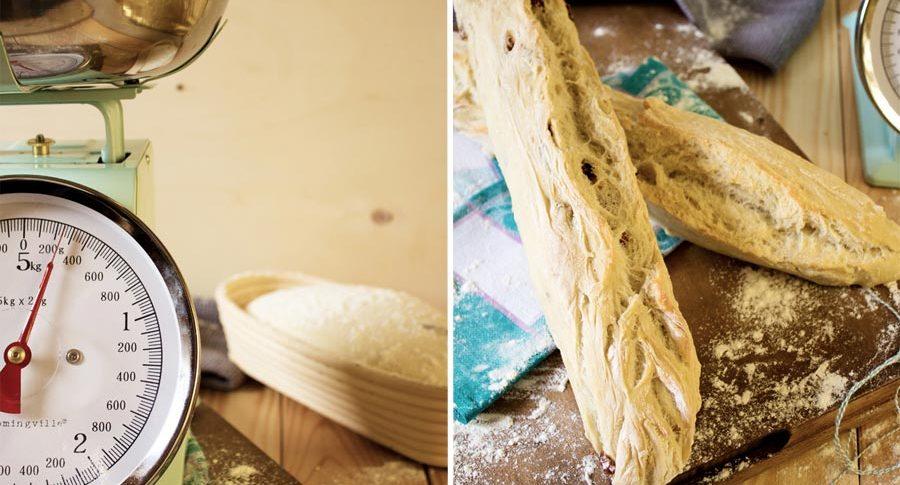 Auch Baguettes lassen sich aus diesem Teig formen