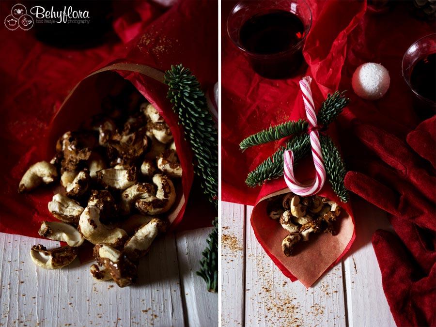 Gebrannte Cashewkerne für Weihnachten