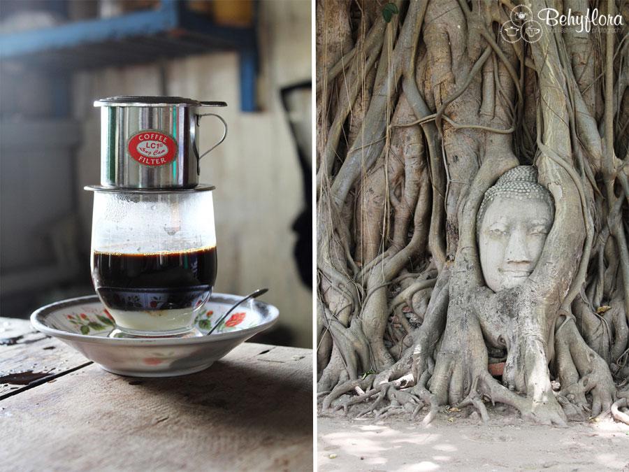 Vietnamesischer Kaffee mit gesüßter Kondensmilch