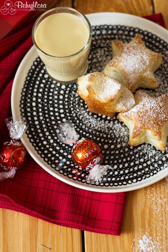 Santa bekommt dieses Jahr Marzipanlikör und Blätterteig-Sterne mit feiner Schokolade