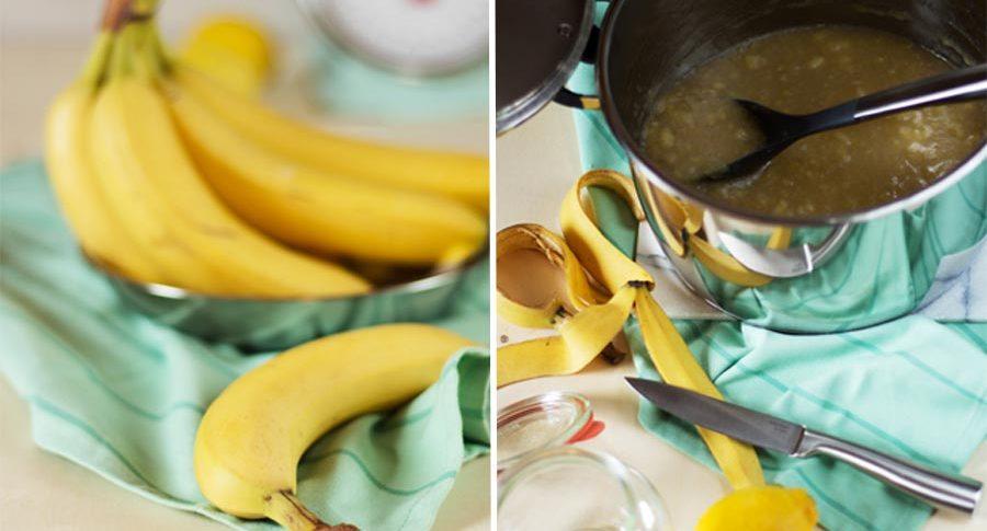 Bananenmarmelade mit Ingwer und Zitrone