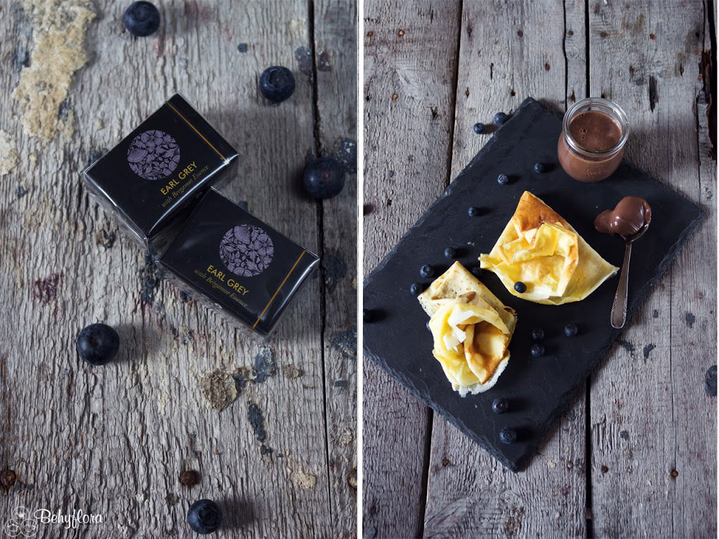Homemade Schokocreme mit Earl Grey Tee passt super zu Crepes