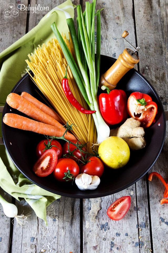 Zutaten für die Freestyle One Pot Pasta