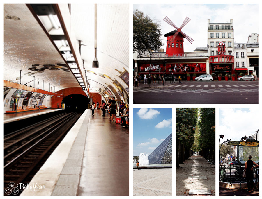 Moulin Rouge und die Metro in Paris