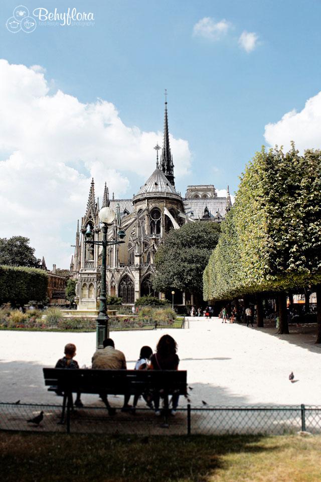 Notre Dame in Paris - die Rückseite