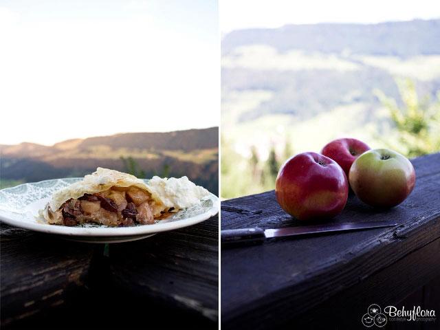 Apfelstrudel selbstgemacht schmeckt am besten.