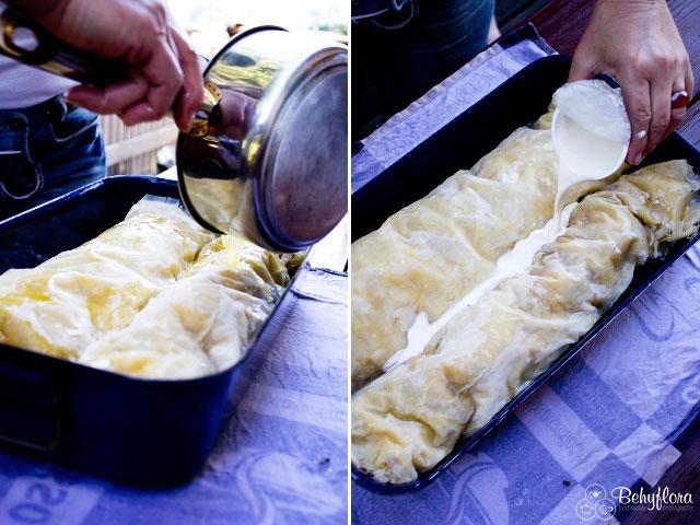 Butter und Sahne machen den Strudel saftig