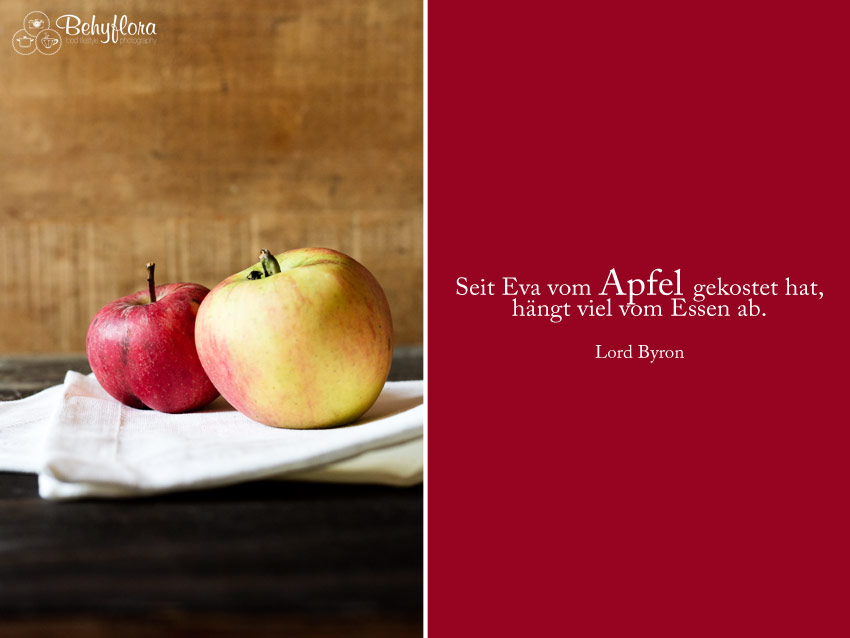 Zitati - Seit Eva vom Apfel gekostet hat, hängt viel vom Essen ab.