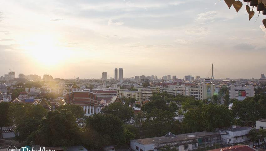 Heimatgefühl in Bangkok auf dem Wat Saket - Golden Mount