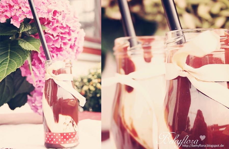 Erdnuss-Bananen-Shake mit Schokolade