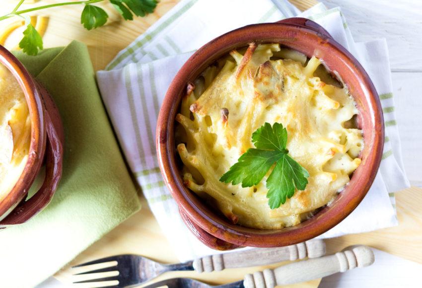 Nudelauflauf vegetarisch mit Blumenkohl