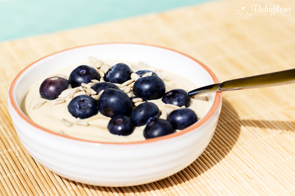 Cappuccino Quark mit Blaubeeren