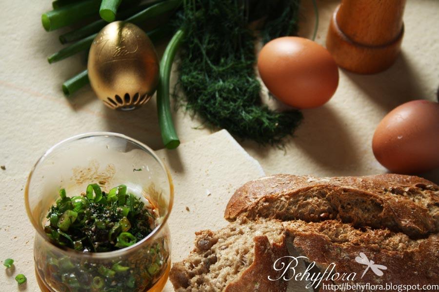 Schnittlauch und Ei