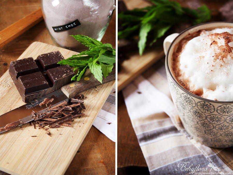 Heiße Schokolade mit selbstgemachtem Kakaopulver