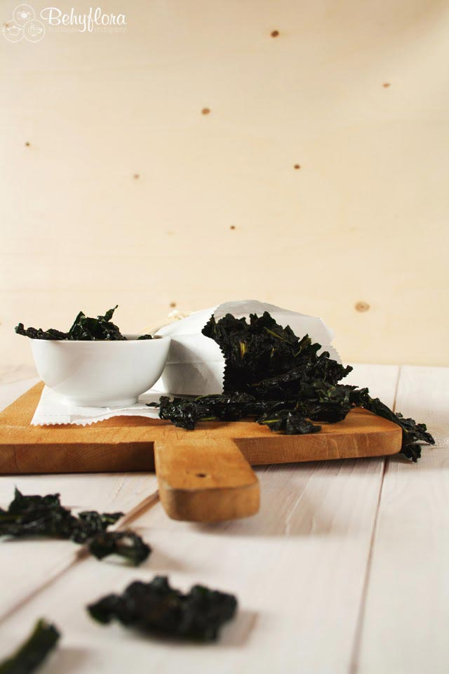 Selbstgemachte Kale Chips