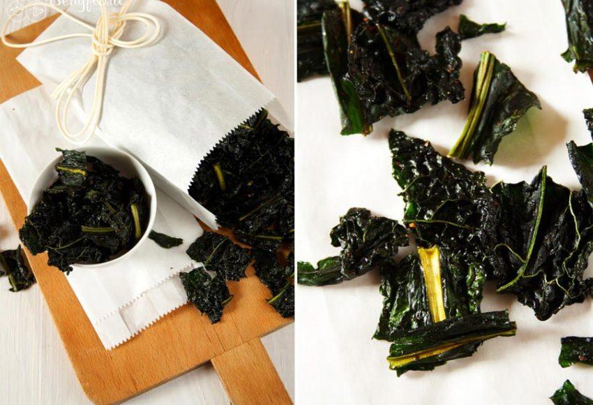 Gesunde Kale Chips als Snack