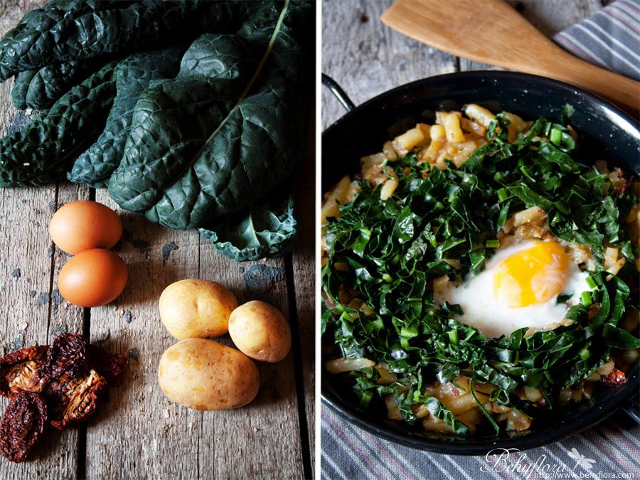 Kartoffel Fritatta mit Ei