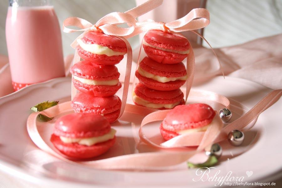 Macarons mit weißer Ganache