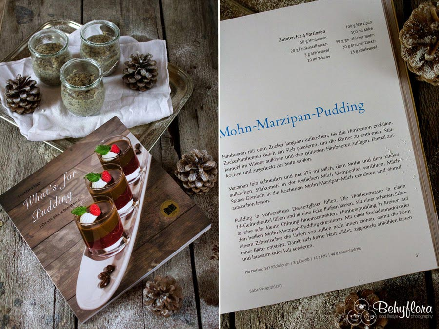 Rezept Mohn Marzipan Pudding