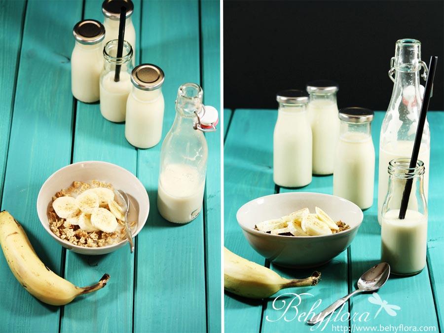 Flaschen mit Hafermilch