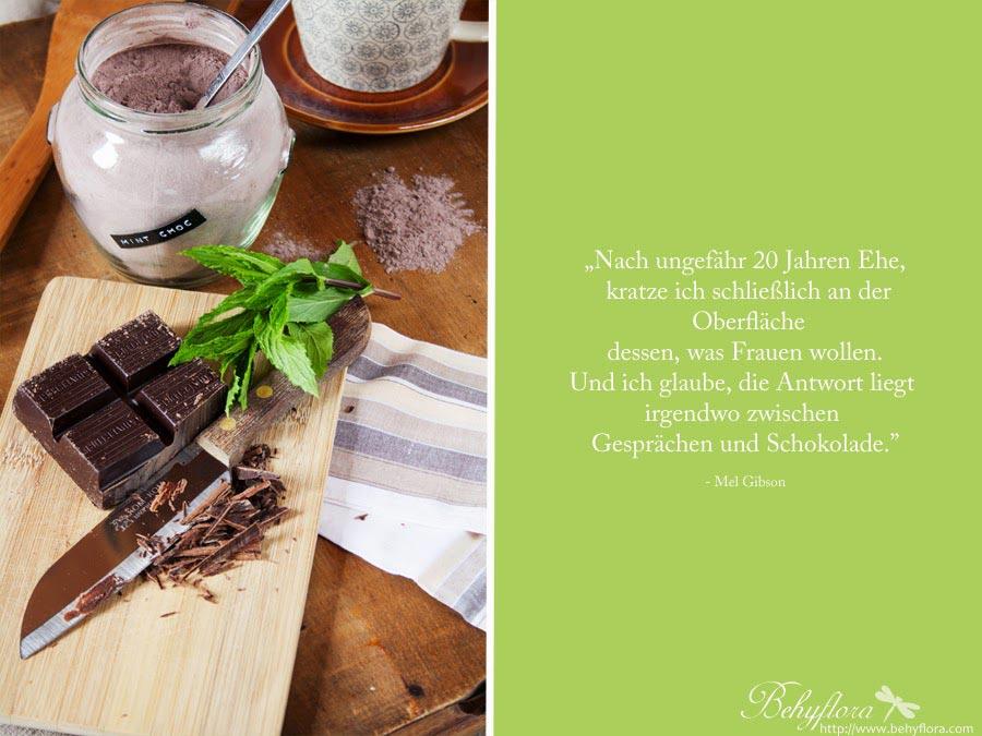 Zitat Meld Gibson Frauen Schokolade