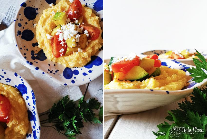 Polenta mit Zucchini und Tomaten