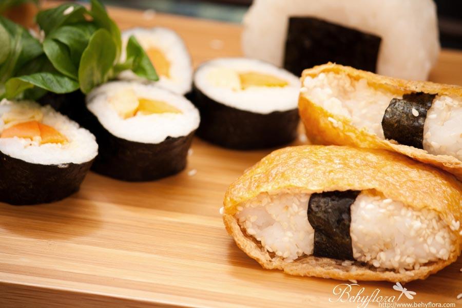 Sushi - vegetarisch mit Tofu und Ei