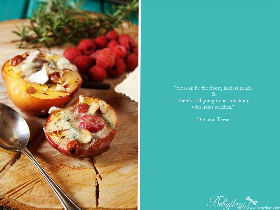 Zitat Mandeln und Pfirsiche