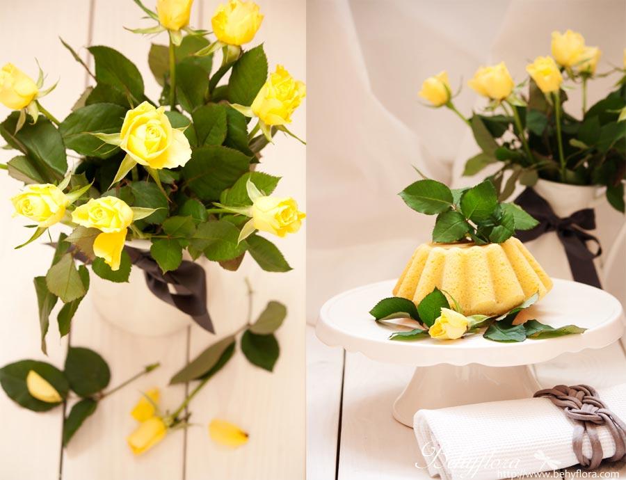Gelbe Rosen für den Frühling