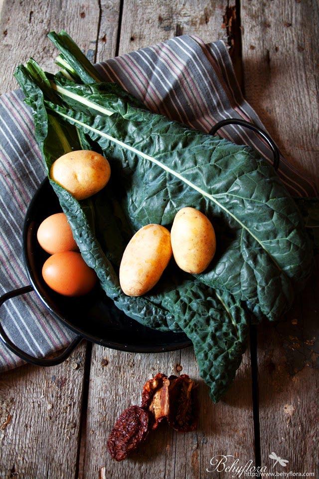 Zutaten Kale Kartoffel Frittata