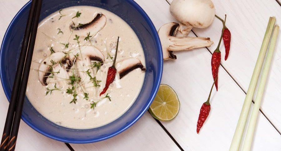 Vegetarische Tom Kha Gai