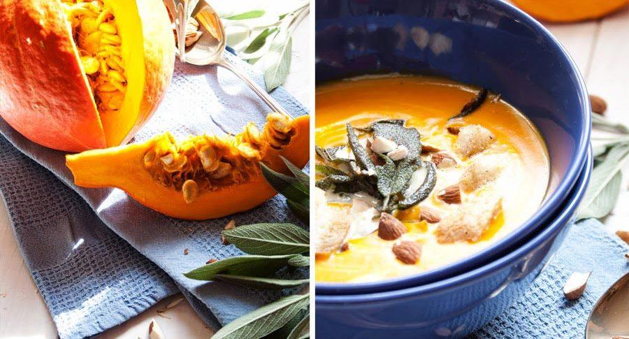 Kürbis-Suppe mit Salbei