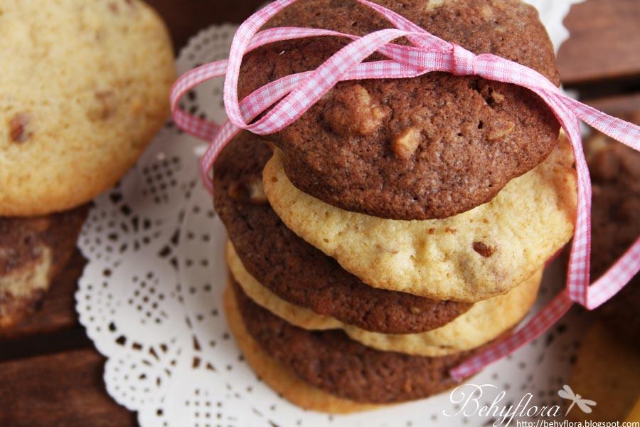 Schwarz-Weiß Bananen-Cookies