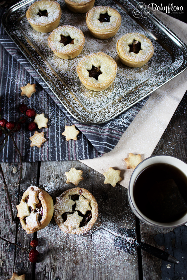 Tablett mit Mince Pies