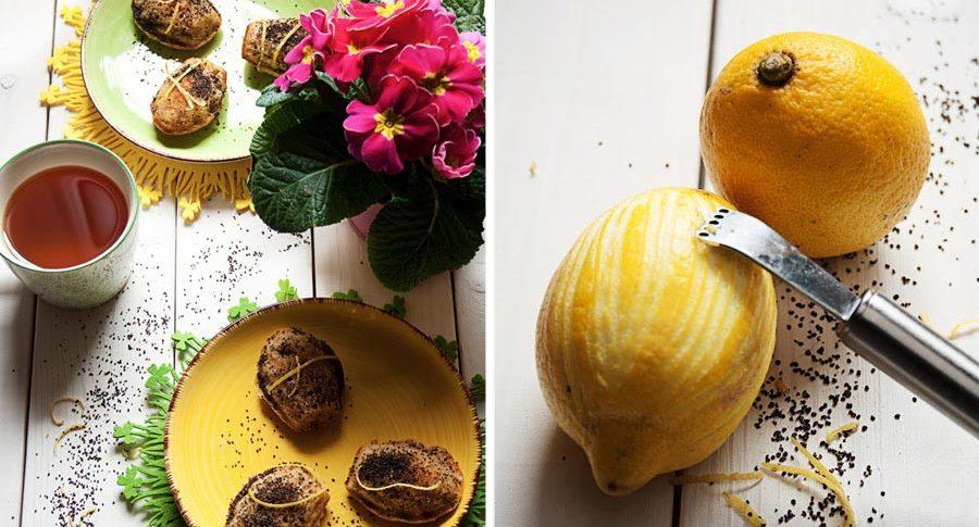 Madleines mit Orangen Curd