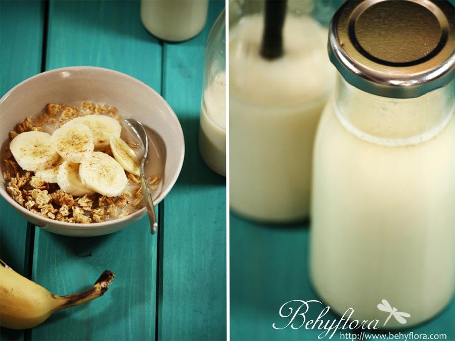 Frühstück mit selbstgemachter Hafermilch