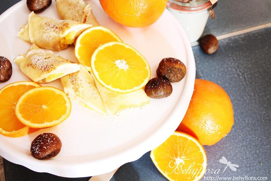 Crepes mit Maroni-Creme