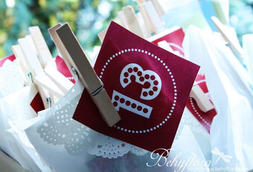 Adventskalender aus Butterbrotpapier-Tüten