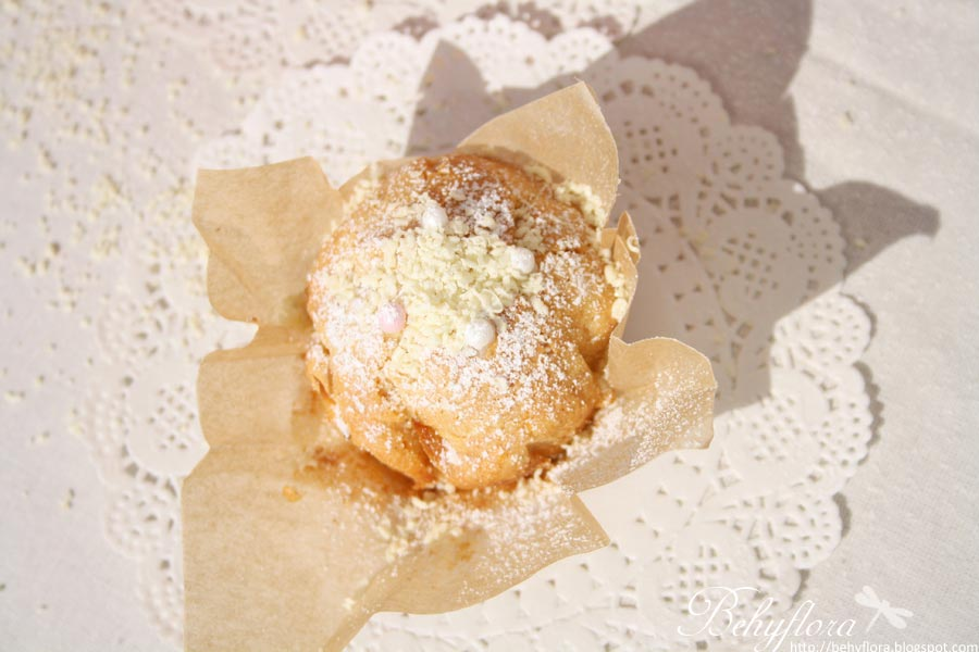 Kürbis Muffins mit weißer Schokolade